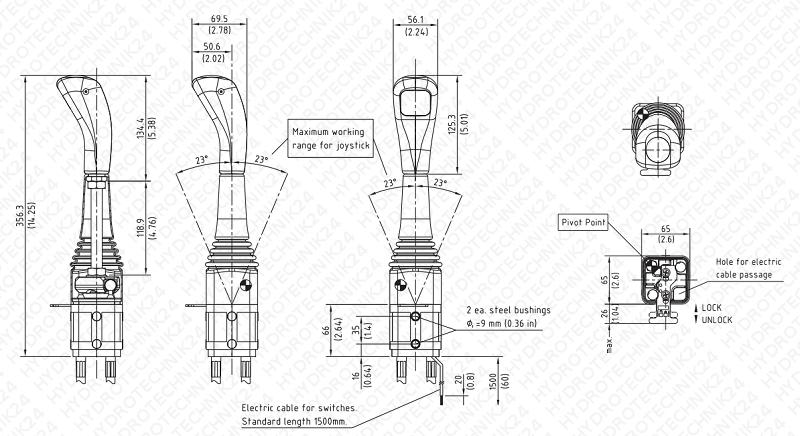 Bowdenzüge für Steuerventile zum System Nimco Länge von 1000mm bis 3000mm